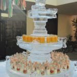 ice sculpture food and beverage display
