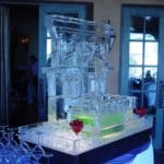 wedding ice sculpture drinking fountain