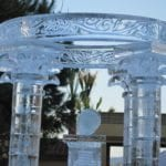 wedding ice sculpture pillar