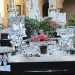 wedding ice sculpture pillars vases and champagne holders