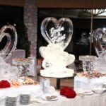 wedding ice sculptures seafood bar